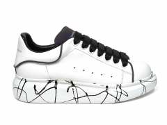 Alexander McQueen Painted Sole White/Black/Reflective