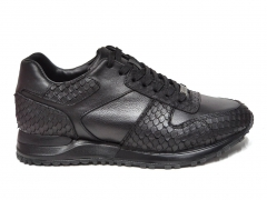 Ferazzi Sneaker Snake Leather Black FRZ018