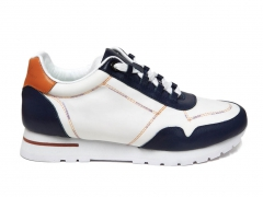 Loro Piana Sneakers Wind Leather White/Navy