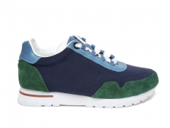 Loro Piana Sneakers Wind Navy/Green/Blue