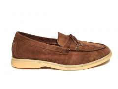 Loro Piana Summer Charms Walk Brown Suede