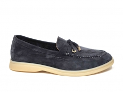 Loro Piana Summer Charms Walk Grey Suede