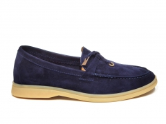 Loro Piana Summer Charms Walk Navy Suede