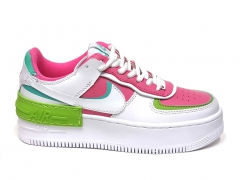 Nike Air Force 1 Low Shadow White/Pink/Green