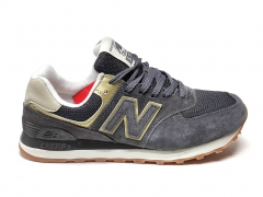 New Balance 574 Grey/Gold