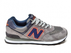 New Balance 574 Grey/Navy/Orange
