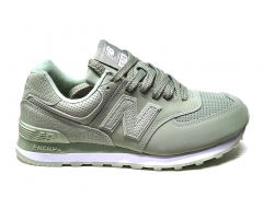 New Balance 574 Snake Leather Olive