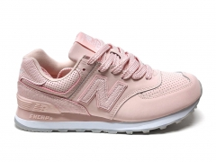 New Balance 574 Snake Leather Pink