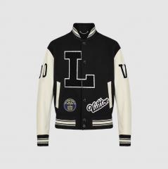 Бомбер Louis Vuitton Black/White KZLV04