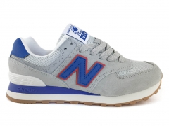 New Balance 574 Light Grey/Blue/Red