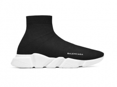 Balenciaga Knit High-Top Sneaker Black/White