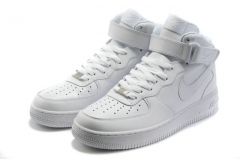 Nike Air Force 1 Mid white зимние кроссовки (натур.мех)