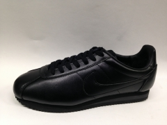 Nike Cortez black leather (с мехом)