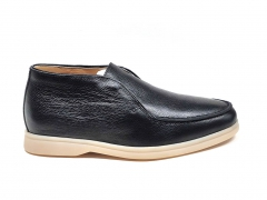 Loro Piana Desert Open Walk Black Leather/Gum