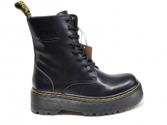 Dr. Martens Jadon Smooth Leather Platform Boots Black