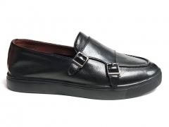 Слипоны Mirko Osvaldo Black Leather MO19