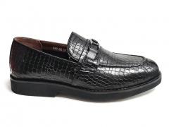 Лоферы Mirko Osvaldo Snake Black Leather MO22