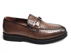 Лоферы Mirko Osvaldo Snake Brown Leather MO23