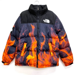 Пуховик The North Face 700 Navy/Black/Flame WTNF02