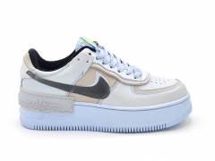 Nike Air Force 1 Low Shadow Pure Platinum Snakeskin Blue