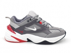 Nike M2K Tekno Gunsmoke/University Red