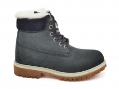 Timberland 6-inch Dark Grey/Black 2021 (натур. мех)