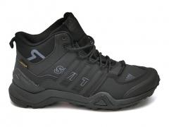 Adidas Terrex SwiftR GTX Nubuk All Black (с мехом)