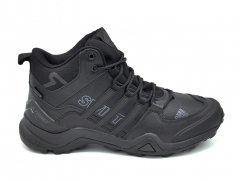 Adidas Terrex SwiftR GTX Leather All Black (с мехом)