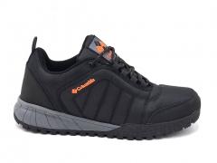 Columbia Waterproof Mid Black/Grey/Orange (с мехом)