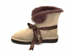 UGG With Ribbon Boot Beige/Brown (натур. мех)