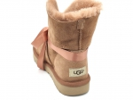 UGG With Ribbon Boot Beige/Coral (натур. мех)