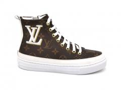 Louis Vuitton Stellar Sneaker Boot Brown/White