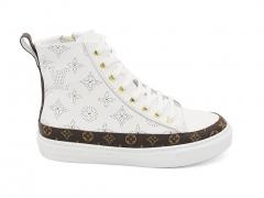 Louis Vuitton Stellar Sneaker Boot White/Brown