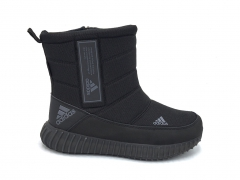 Дутики Adidas Performance Boost Black (с мехом)