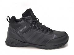 Adidas Sneakers Mid Leather Black (с мехом)