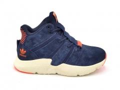 Adidas Prophere Mid Suede Navy/Orange (с мехом)