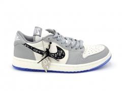 Air Jordan 1 Retro Low x Dior Wolf Grey