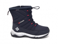 Дутики Columbia Waterproof Navy/Red/Grey (с мехом)