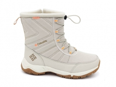 Дутики Columbia Waterproof Beige/Orange (с мехом)