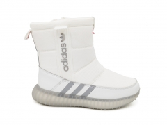Дутики Adidas Originals Boost White (с мехом)