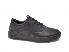Ecco Soft Leather Low Sneaker Black