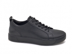 Ecco Soft 8 Leather Low Sneaker Black