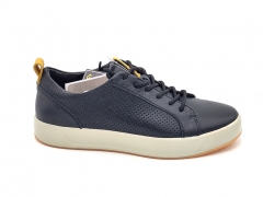 Ecco Soft 8 Leather Low Sneaker Navy/White/Gum