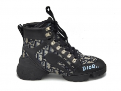 Dior Sneakers D-Connect High Black/Beige/Muton (натур. мех)