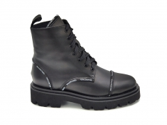 Balenciaga Boots Black Leather (натур. мех)
