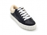 Miu Miu Leather High-Top Sneaker Black/Tan (натур. мех)