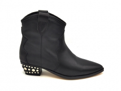 Казаки Isabel Marant Dewina Boots Black Leather (натур. мех)