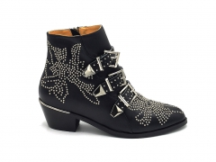 Chloé Susanna Short Boots Black Leather