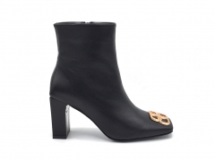 Balenciaga Ankle Boots Embellished Leather Black