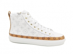 Louis Vuitton Stellar Sneaker Boot White/LightBrown